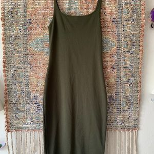 Zara  olive green dress